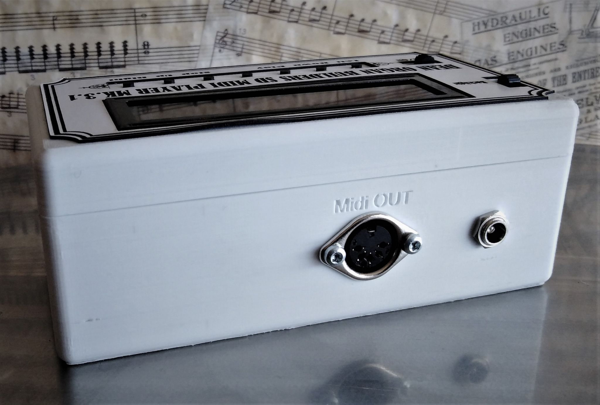 SD Card Midi File Player, available at The Music Box Shop
